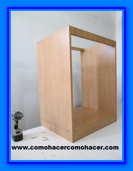 Modulo de cocina melamina web del bricolaje dise o diy for Como armar un mueble de cocina