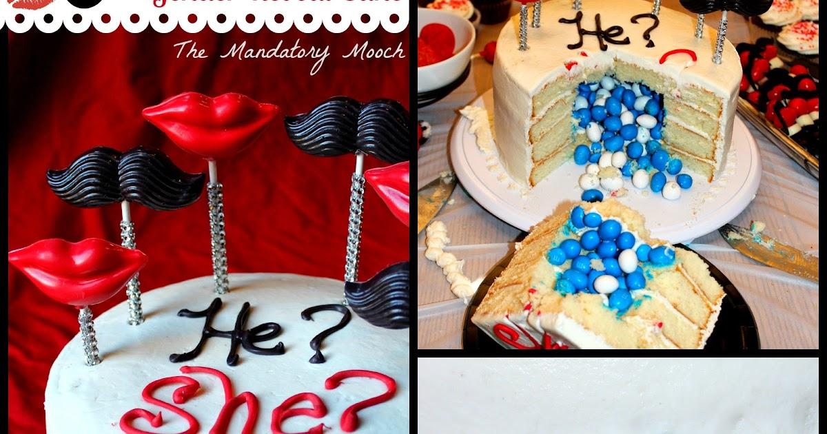 Gender Reveal Cake Kansas City