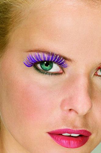 Resultado de imagen para ojos con pestañas de colores