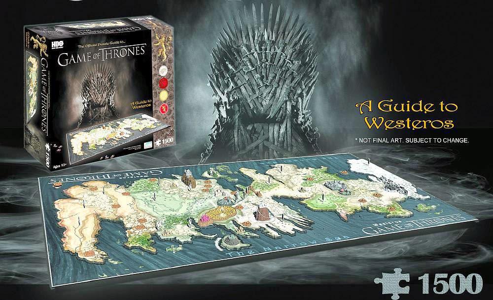 Puzzle 4D Mapa de Poniente Juego de Tronos