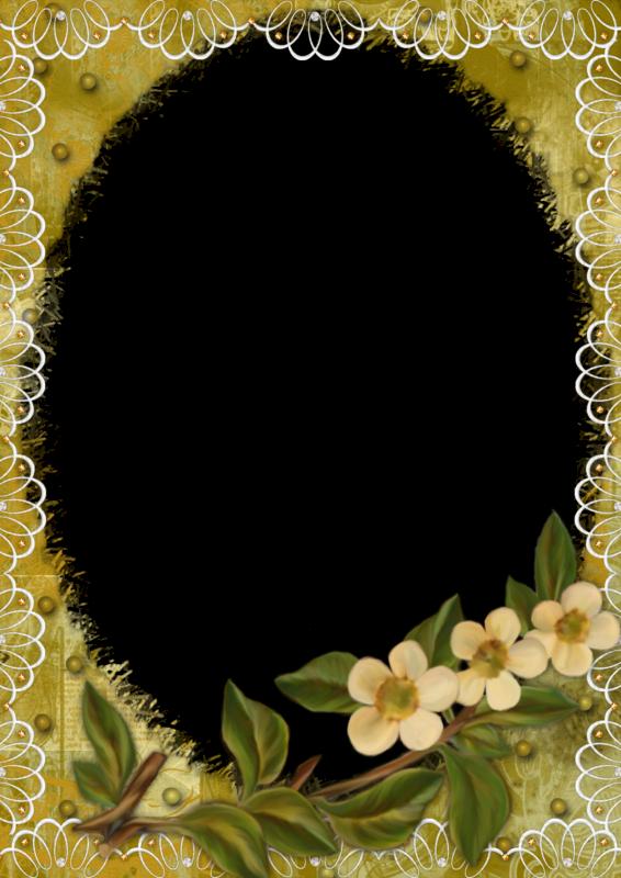 8 bell simos marcos para fotos floreados en png marcos - Marcos redondos para cuadros ...