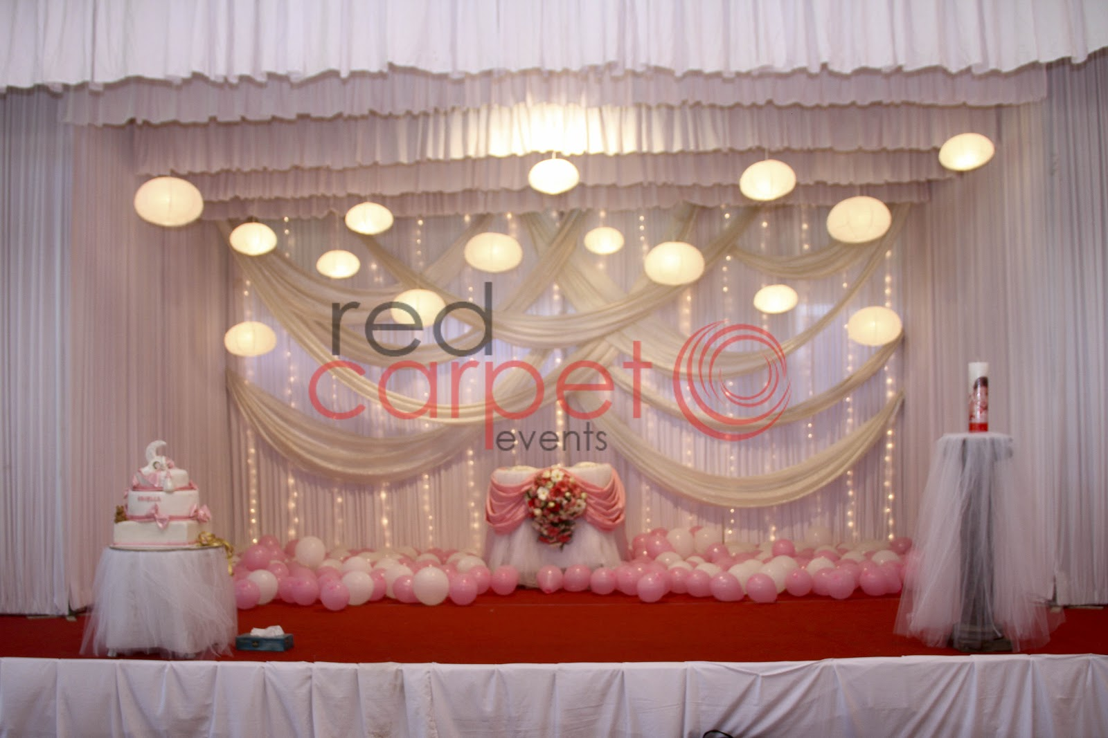 Red carpet events complete event management and wedding for Baby girl baptism decoration ideas