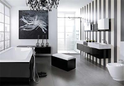 baño blanco y negro