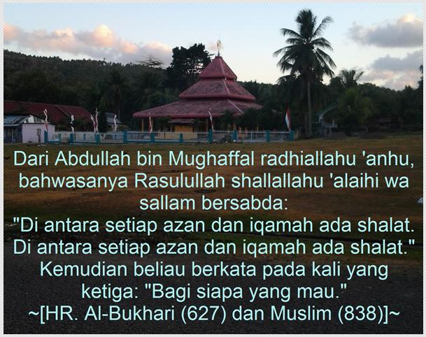Shalat Fardhu itu diwajibkan || Shalat Sunnah itu dibiasakan