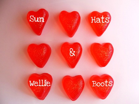 Sun Hats & Wellie Boots: Homemade Heart Shaped Soap