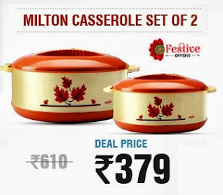 Deal of Day: Set of 2 Miton Casserol worth Rs.610 for Rs.379 Only