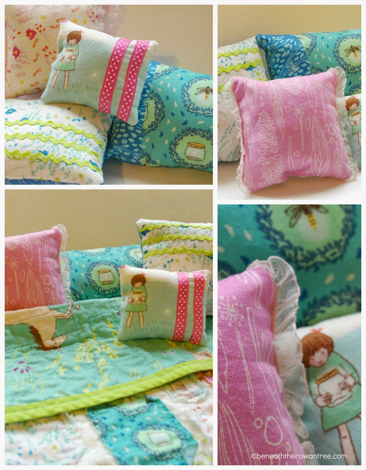 Trend Handmade Christmas DIY American Girl Doll Bed Bedding and Storage