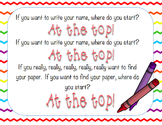 Guest blog post from Faith at Kindergarten Faith who shares some tips to help students for Remembering to Write Your Name on Your Paper!