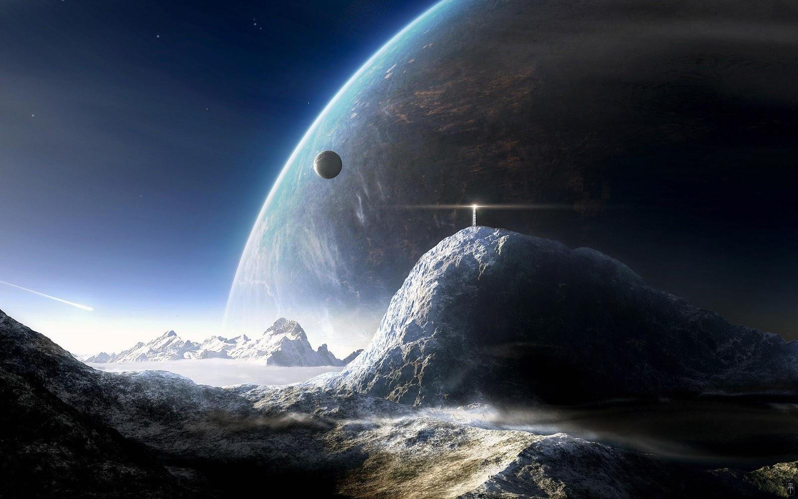 Outer Space Landscape desktop wallpaper