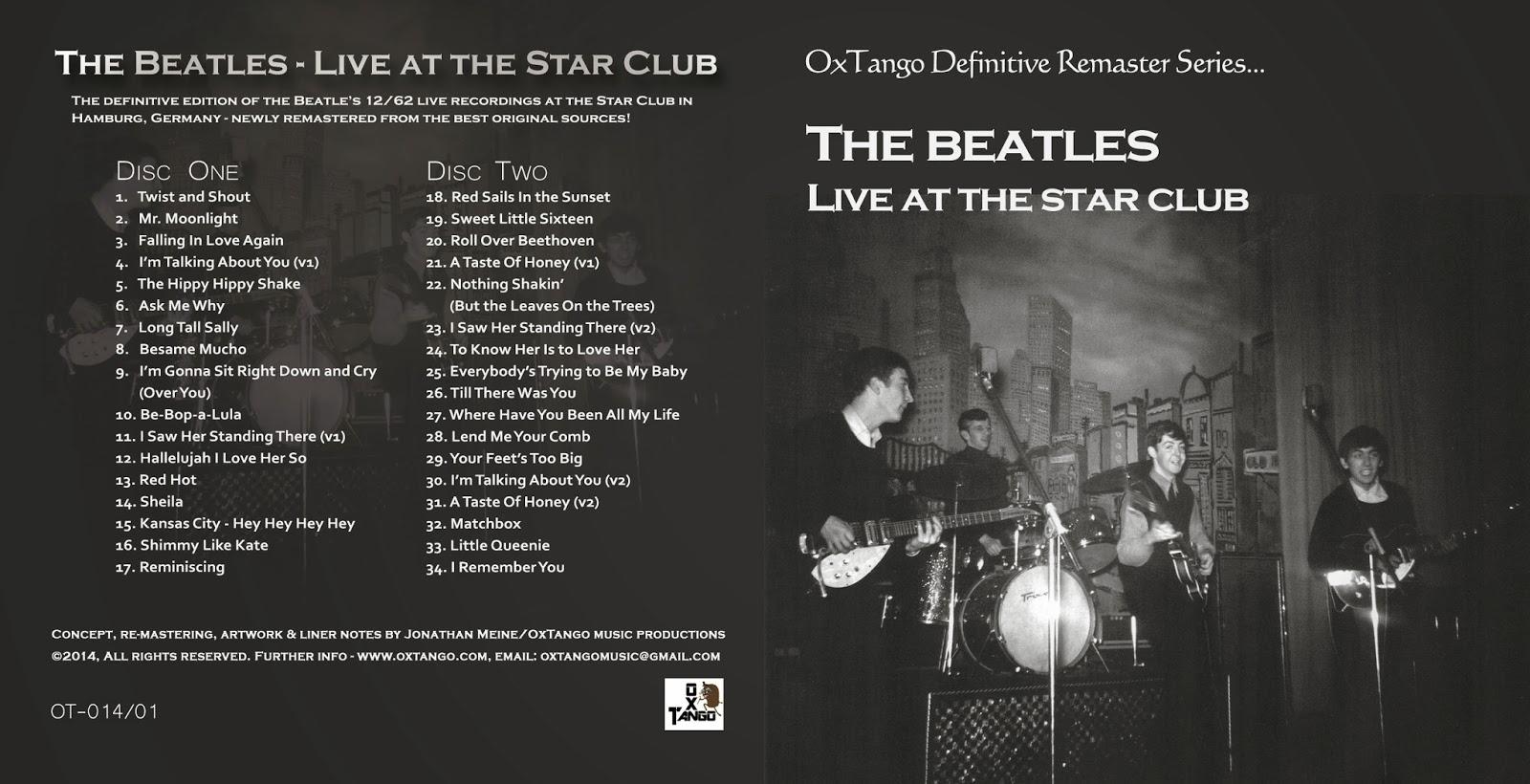 """The Beatles Polska: Nowe wydanie płyty the Beatles """"Star Club"""" produkcji OxTango Music"""