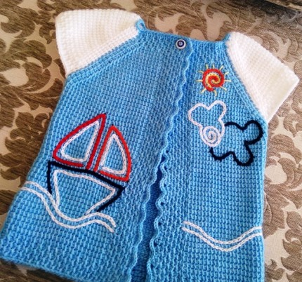 Baby Boy Vest - Crochet Tutorial