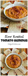 Slow Roasted Tomato Hummus Recipe (Dairy-Free, Vegan) [from KalynsKitchen.com]