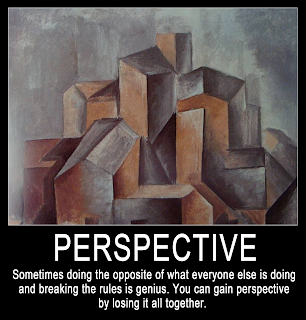 Perspective Quote and Picasso Art Motivational