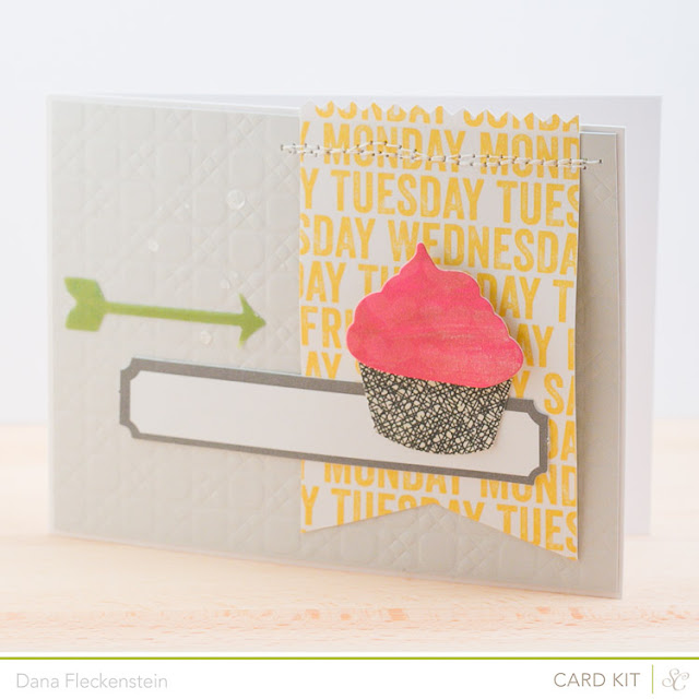 Handmade Cupcake Birthday Card using the Studio Calico Front Row Kit by pixnglue