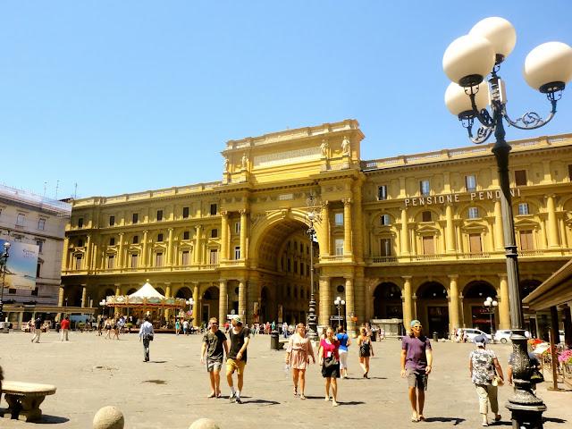The Piazza della Repubblica of Florence, Italy