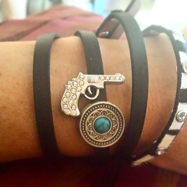 Embellish these leather bracelets with Jewels - by American Jewel