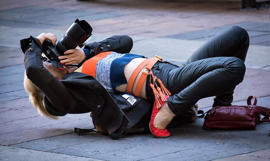 photographers doing crazy things for perfect shot