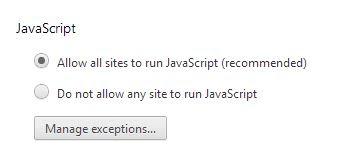 Enable javascript