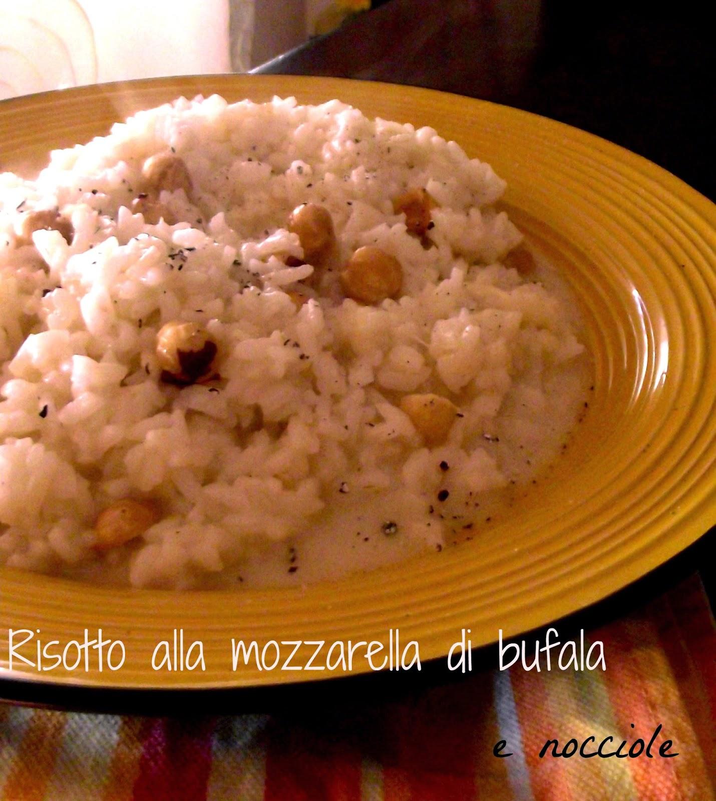 il risotto alla mozzarella di bufale e nocciole e la lacrima sul risotto