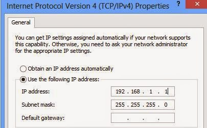 change your own PC IP Address