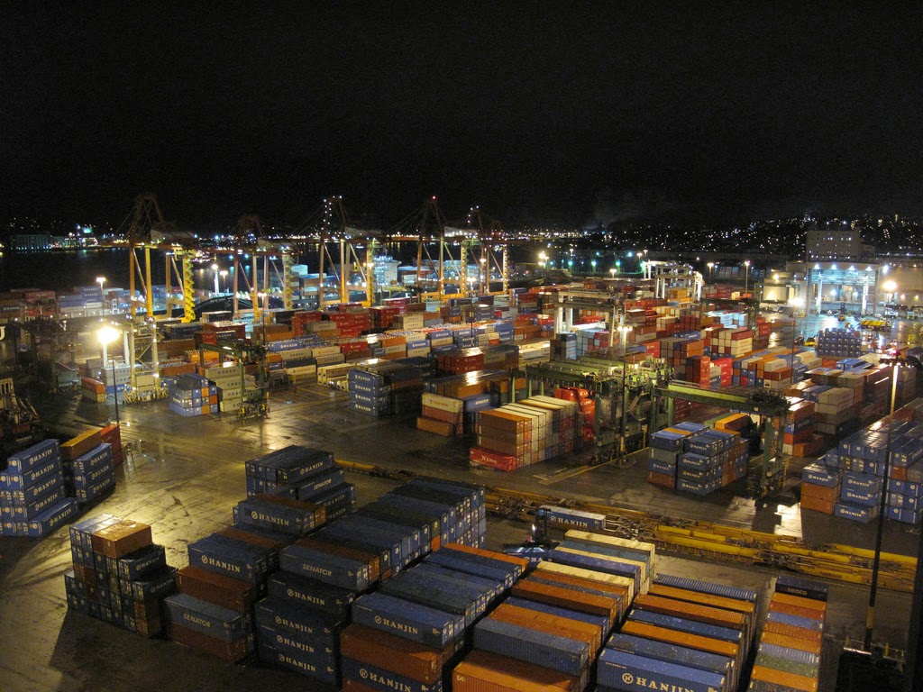fixed assets, like container yards