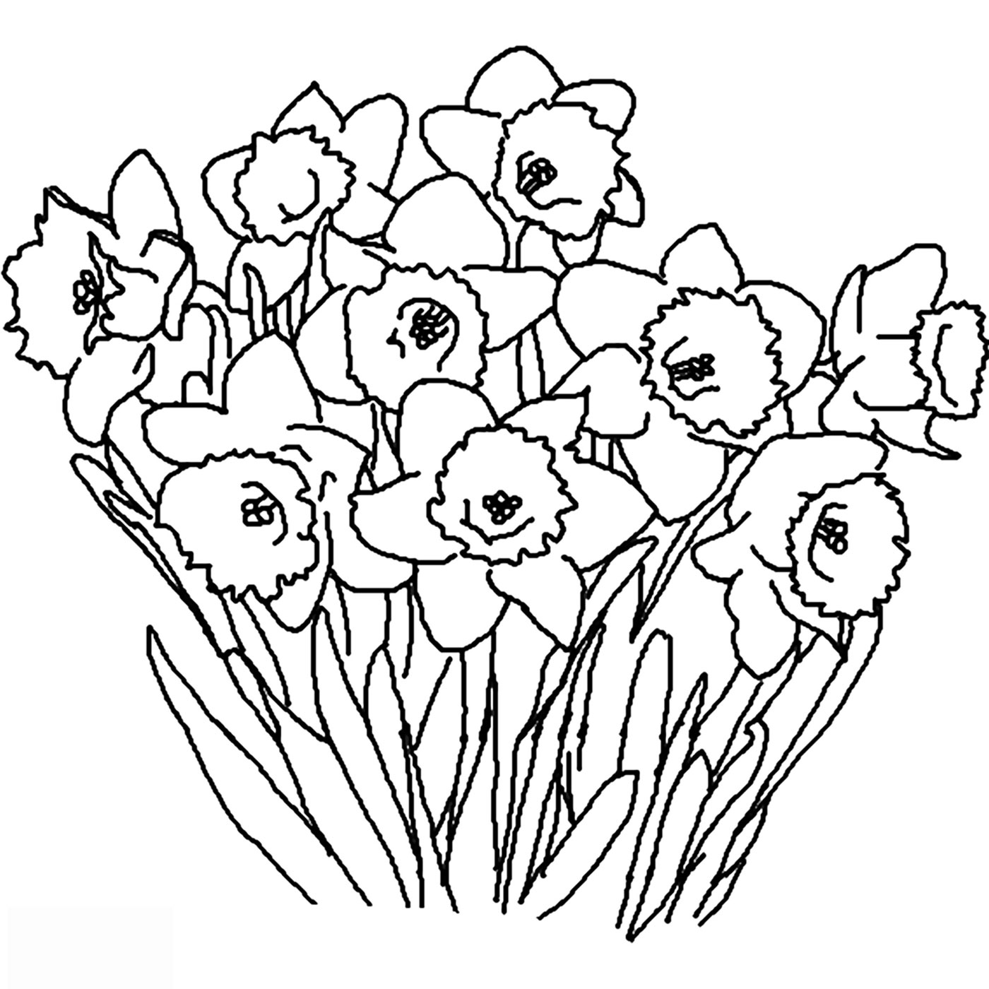 Kids Under 7: Flowers Coloring pages