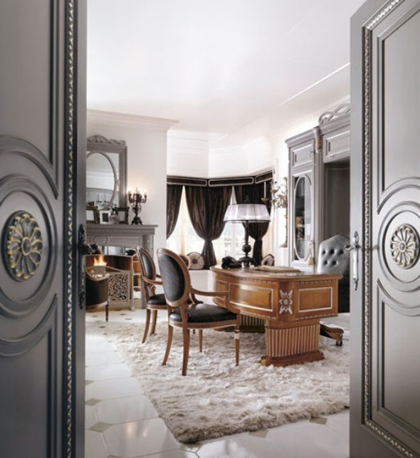 Home office desk design ideas home office luxury for Luxury office design