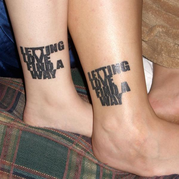 Differentstrokesfromdifferentfolks matching couple for Matching tattoos for couples in love