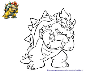 mario bros coloring pages - Browser