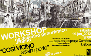 WORKSHOP_Lisbon Panoramas: Sketching wide-angle scenes from near_COSÌ VICINO_assim perto""