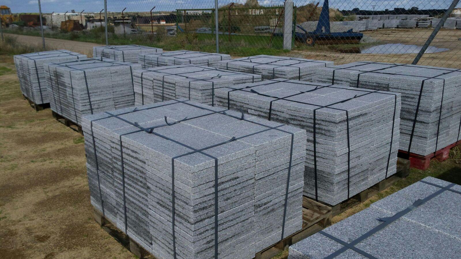 Losas granito gris