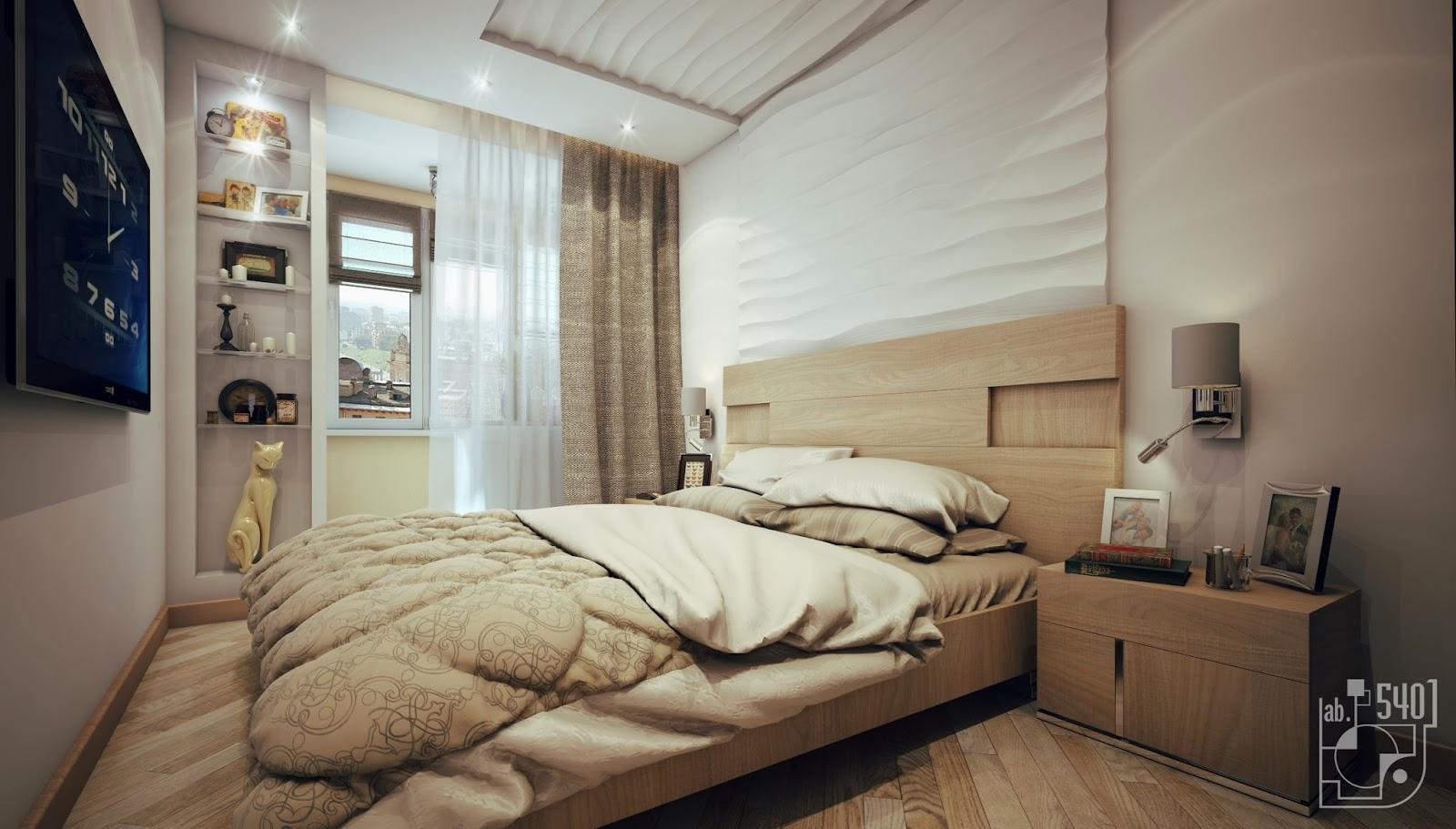 3d панели интерьере спальни - спальня интерьер фото, описани.
