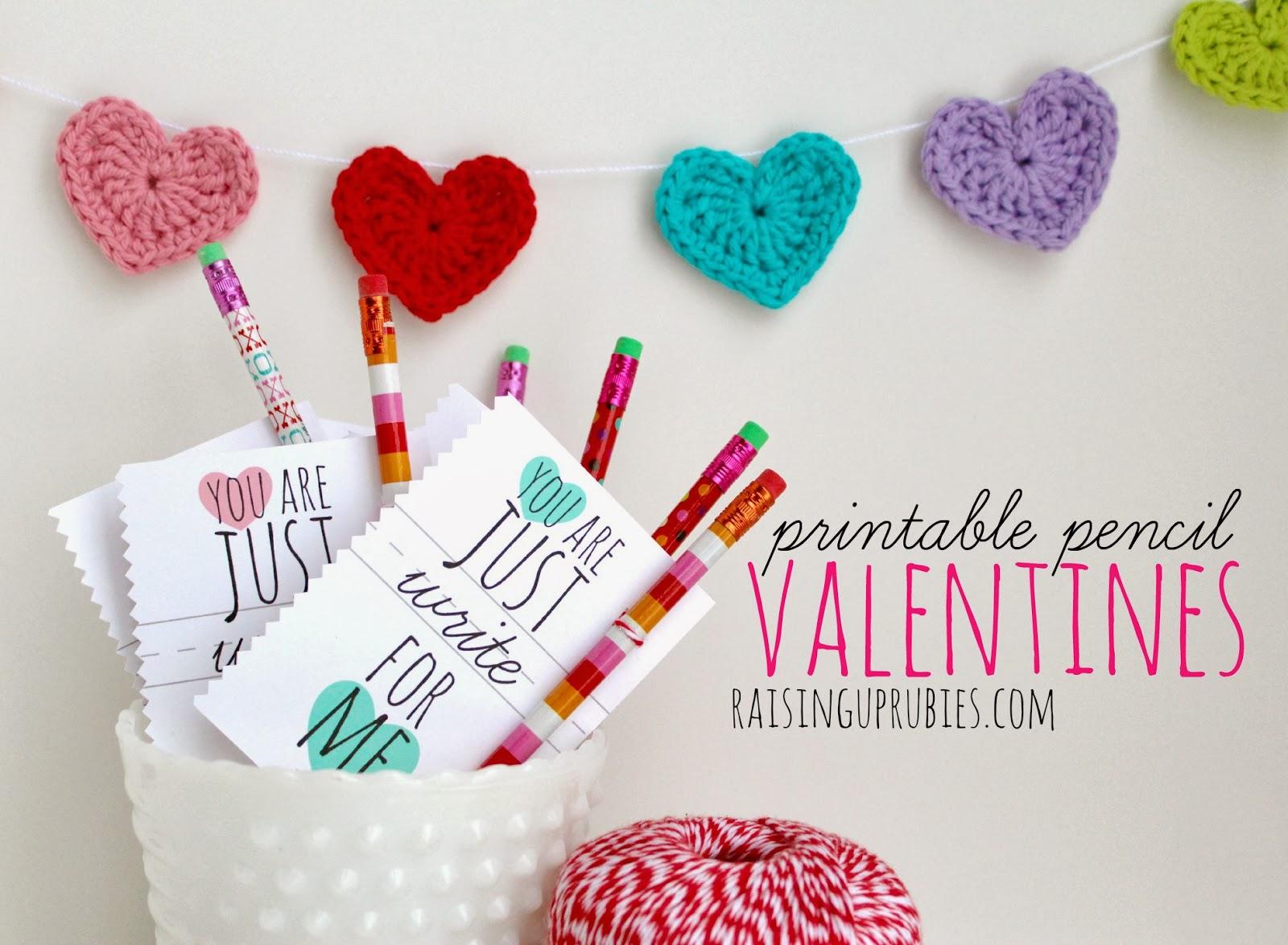 Schön Just Write Printable Pencil Valentines