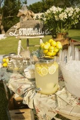 Barra de limonada en tu boda