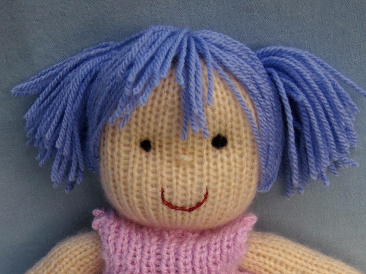 Flutterby Patch: Rosie cheeks for knitted dolls