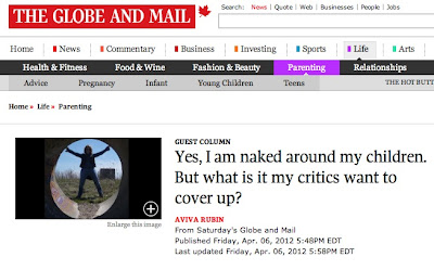 Globe and Mail article by Aviva Rubin