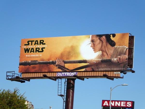 Star Wars The Force Awakens Rey billboard