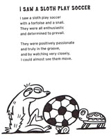 Keeper of the Fun: Funny Poem Showcase: I Saw a Sloth Play Soccer ...