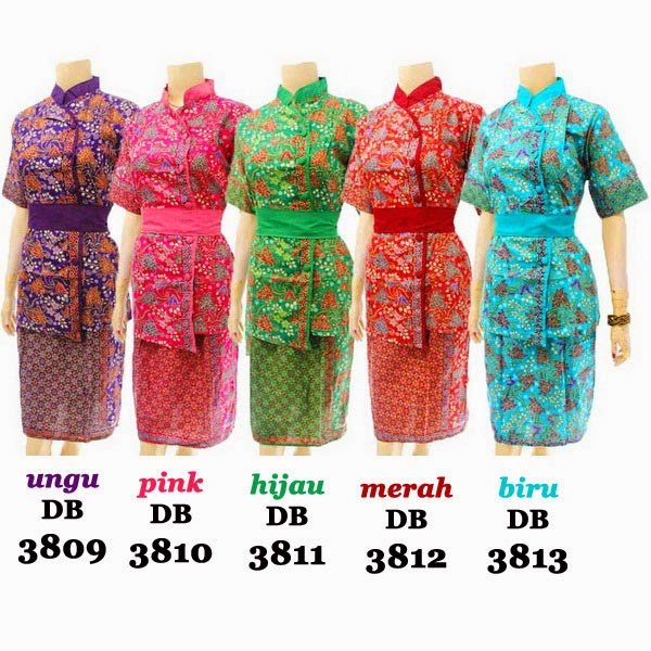 DB3809-3813 Model Baju Dress Batik Modern Terbaru 2014