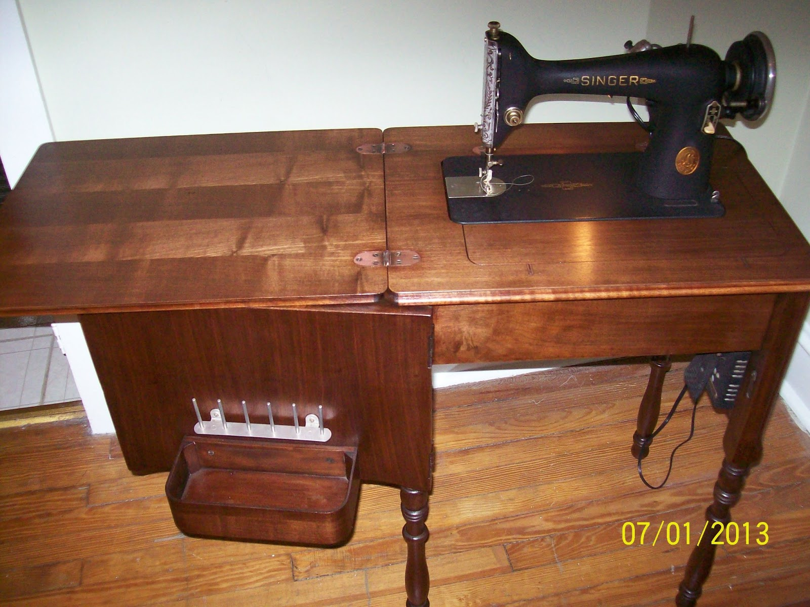 Singer Sewing Machine Built Into Table Choice Image Bar