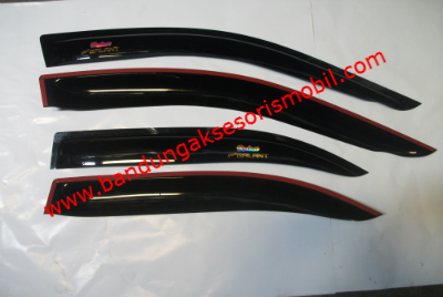Talang Air New Galant Hiu 97-03 Original Black Depan Belakang