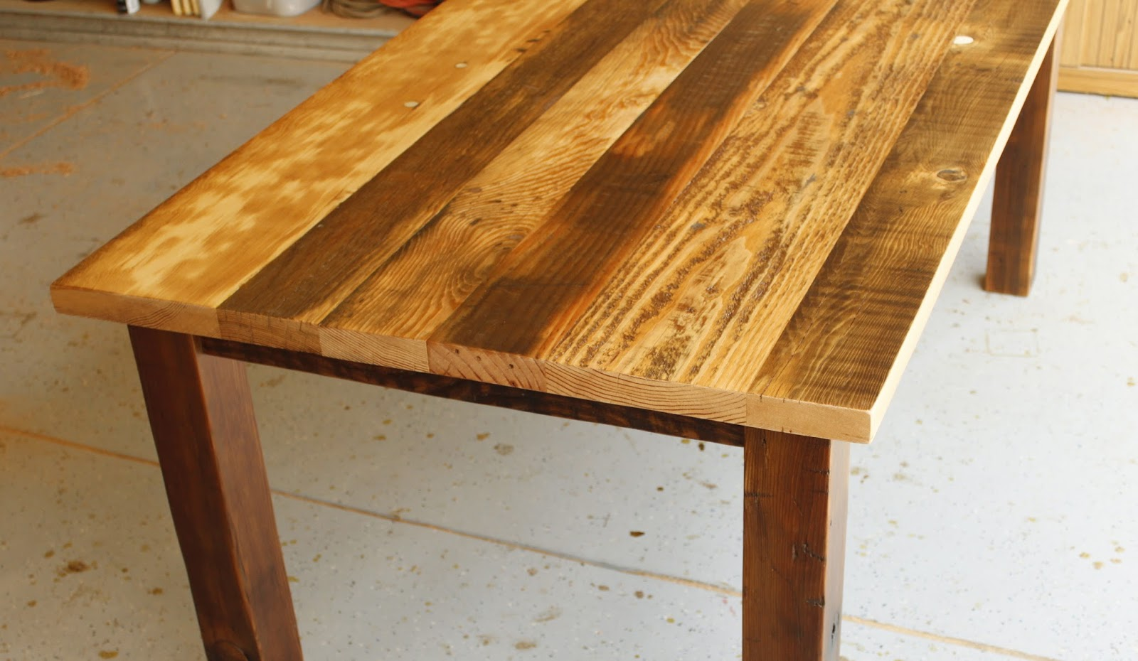 Arbor Exchange | Reclaimed Wood Furniture: Patchwork Of Reclaimed Douglas  Fir