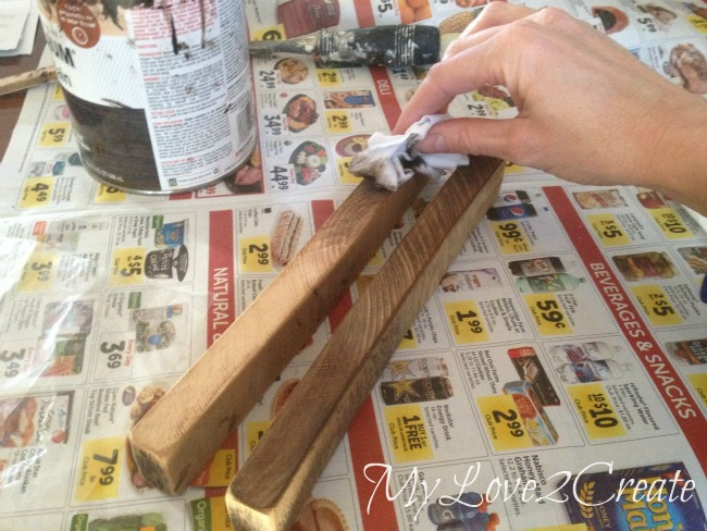 covering cut wood ends with stain