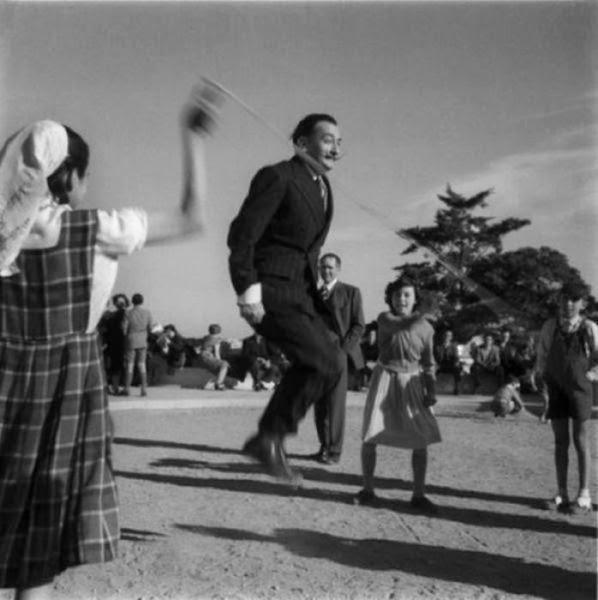 Salvador dali jumping rope