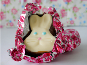 Hand made honeycomb chocolate bunny head by Torie Jayne
