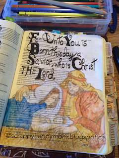Luke Bible Journal Page by Lynn Shokoples