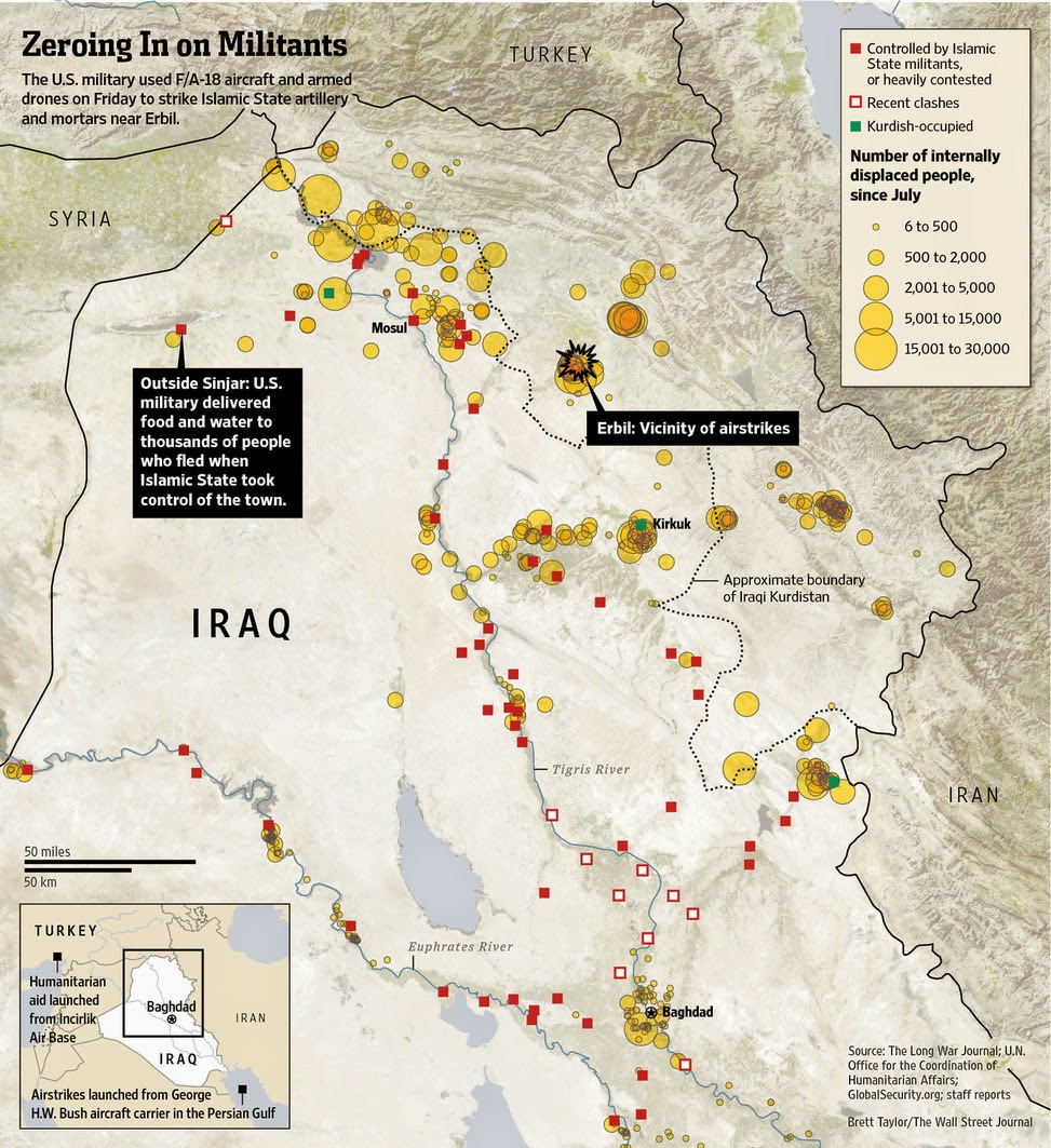 one iraq situation report map