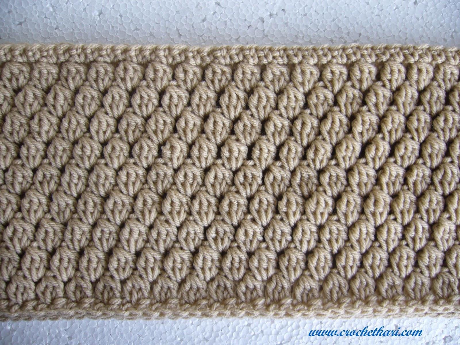 Crochet Cluster stitch cuffed cowl