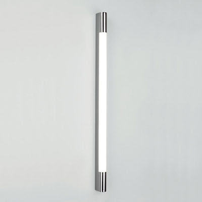 The Astro Palermo 900 bathroom wall light strip, above the mirror fluorescent light