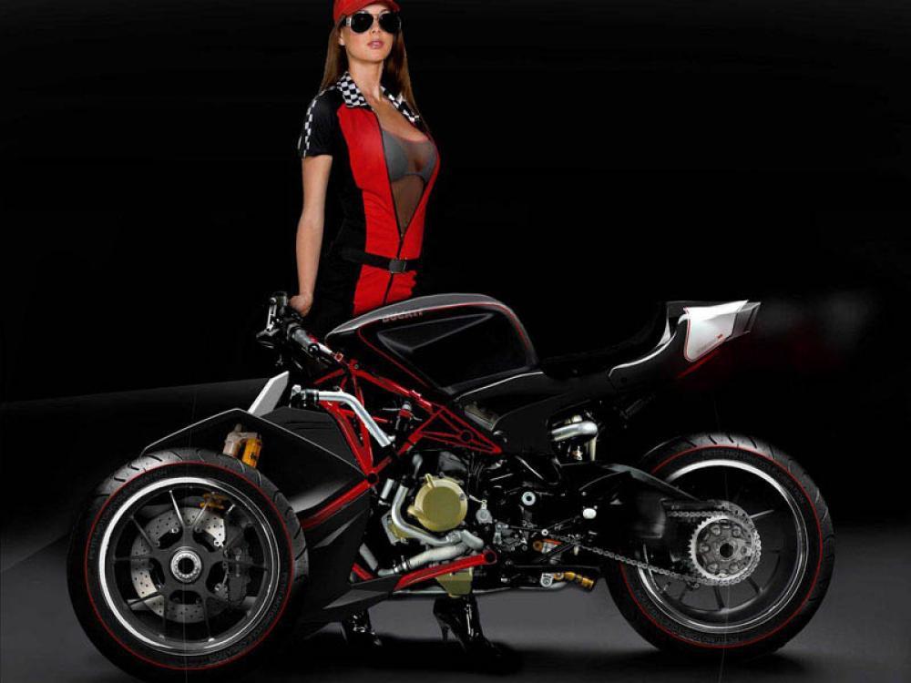 Ducati Desmosedici RR Trike Concept | Reverse Trike | ducati Custom | 3-wheeler | way2speed.com